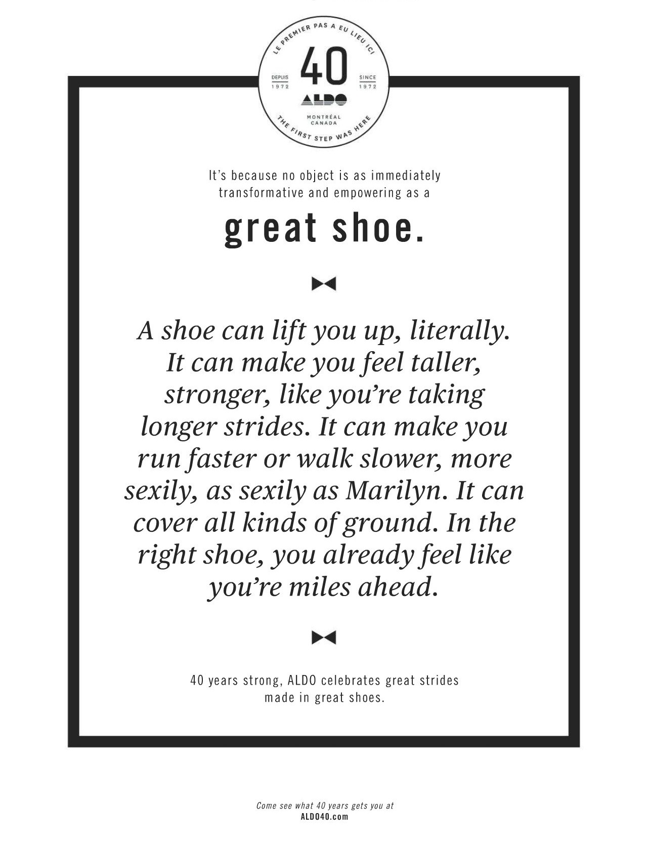 Inspirational Quotes: Great Shoe (By Aldo) – Titoley