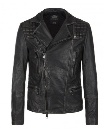 Cargo leather biker jacket_All Saints